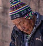 A Peruvian Man in Cusco royalty free stock photos