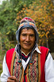 Peruvian Man in Traditional Dress Stock Photography
