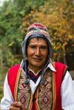 Peruvian Man in Traditional Dress. A Peruvian man in traditional dress with hat and vest stock photography