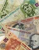Peruvian money. Beautiful closeup of peruvian money Royalty Free Stock Photo