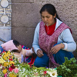 Peruvian mother Stock Photography