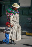 Peruvian mother and a child Stock Photo