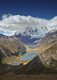 Peruvian mountain landscape. Alpine landscape in Cordiliera Huayhuash, Peru, South America Royalty Free Stock Images