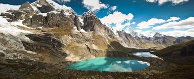 Peruvian mountain landscape. Alpine landscape in Cordiliera Huayhuash, Peru, South America Royalty Free Stock Photos