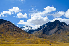 Peruvian mountain landscape on the first day of summer stock photography