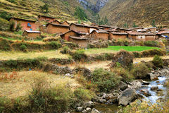 Peruvian mountain village Stock Photo