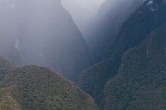 Peruvian Mountains. Deep valleys in Peruvian Andes near Machu Picchu Royalty Free Stock Photo