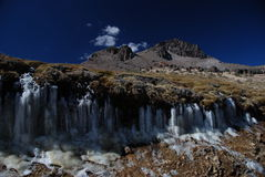 Peruvian mountains with ice royalty free stock photos