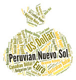 Peruvian Nuevo Sol Shows Foreign Exchange And Coin Stock Photography