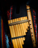 Peruvian pan flute. Or pipe Stock Images