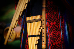 Peruvian pan flute Royalty Free Stock Photos