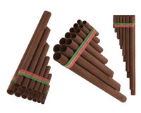Peruvian pan flute Zampona Stock Photography
