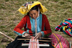 Peruvian peasant artisan Stock Photography