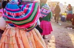 Peruvian people. In city street stock photos