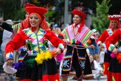 Peruvian Performers at Folkmoot USA Royalty Free Stock Photography