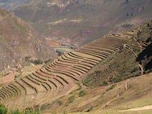 peruvian pisac tarasującego ląduje zdjęcia stock