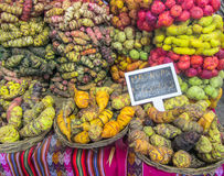 Peruvian Potatoes. Peruvian farmers grow over 300 varieties of potatoes, which they proudly bring to the Mistura Exhibitions. At any Peruvian home, or restaurant royalty free stock image