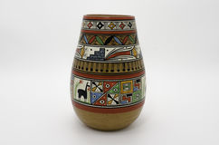 Peruvian Pottery. And Precolumbian ceramics also know as *Huacos* in Peru Stock Photo