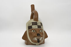Peruvian Pottery. And Precolumbian ceramics also know as *Huacos* in Peru Stock Photos
