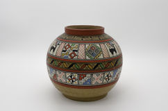 Peruvian Pottery. And Precolumbian ceramics also know as *Huacos* in Peru Royalty Free Stock Photo