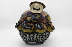 Peruvian Pottery. And Precolumbian ceramics also know as *Huacos* in Peru Stock Images
