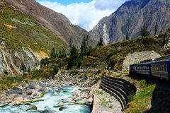 Peruvian railway. And train Royalty Free Stock Photos