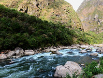 Peruvian river. Urubamba Royalty Free Stock Images