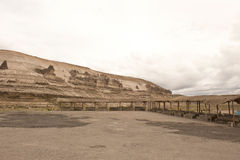 Peruvian Roadway. A Peruvian roadway near Arequipa Peru in the Yura district on a cloudy day Stock Photography