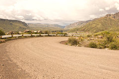 Peruvian Roadway. A Peruvian roadway near Arequipa Peru in the Yura district on a cloudy day Royalty Free Stock Images
