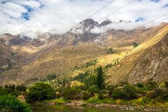 Peruvian Sacred Valley: The Train Ride to Machu Picchu. The view of the train ride of Machu Picchu stock image