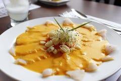 Peruvian sea food. Peruvian flavor, fusion of flavors and colors stock photo