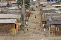 Peruvian shanty town Royalty Free Stock Photo