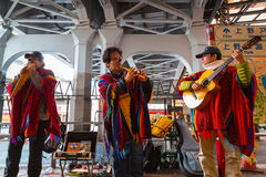 Peruvian Street Musicians in Tokyo Stock Images