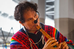 Peruvian Street Musicians in Tokyo Royalty Free Stock Photography