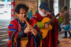 Peruvian Street Musicians in Tokyo, Japan Stock Image
