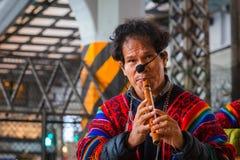 Peruvian Street Musicians in Tokyo, Japan Royalty Free Stock Photo