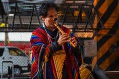Peruvian Street Musicians in Tokyo Stock Photography