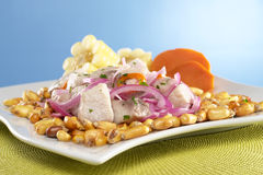 Peruvian-Style Ceviche Royalty Free Stock Photo