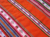 Peruvian textil. Peruvian fabric closeup. horizontal image Stock Photos