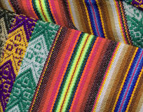 Peruvian textil closeup Stock Photos