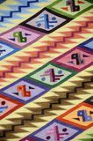 Peruvian Textile 3. Detail of Inca Blanket.It was taken in Inca Market, Lima. Please see other Inca pictures Royalty Free Stock Photos