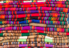 Peruvian Textile Background Stock Photo