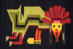 Peruvian Textile Detail Royalty Free Stock Images