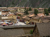 Peruvian Town. View of peruvian village and houses Royalty Free Stock Photo