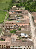 Peruvian Town. View of peruvian village and houses Stock Images