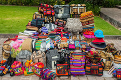 Peruvian traditional handcraft souvenirs Andes  Cuzco Peru Stock Image
