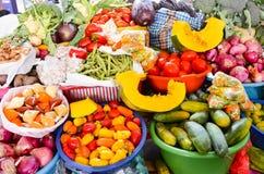 Peruvian vegetable stand Stock Photos