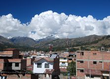 The Peruvian village of Huaraz Royalty Free Stock Photos