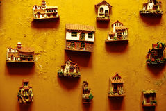 Peruvian wall decorations Stock Photo