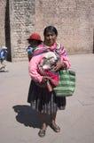 Peruvian woman stock photography